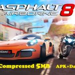 Asphalt 8 Airborne Apk Obb Data Highly Compressed 5MB