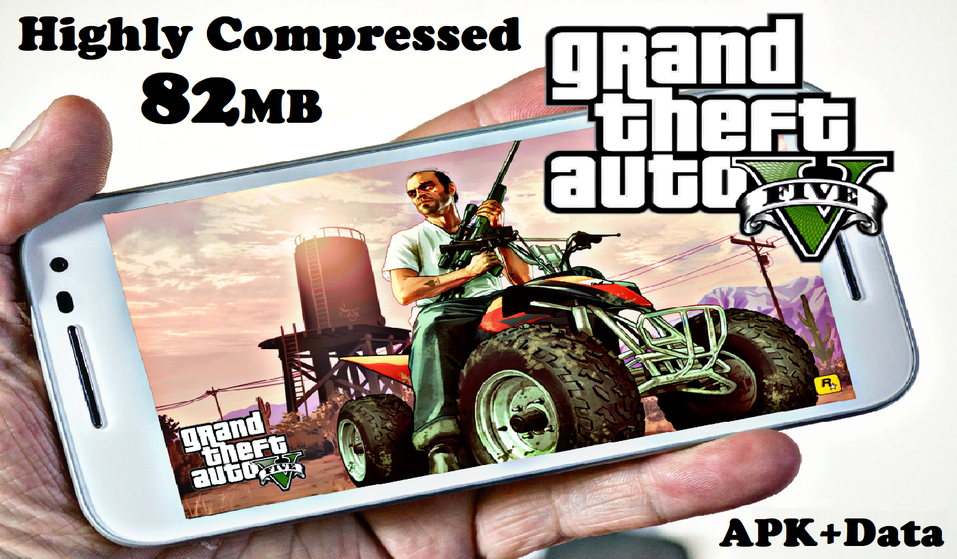 GTA 5 Android Apk Data Highly Compressed 82MB Download