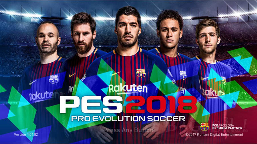 PES 2018 Mobile Mod Barcelona Menu Android Download