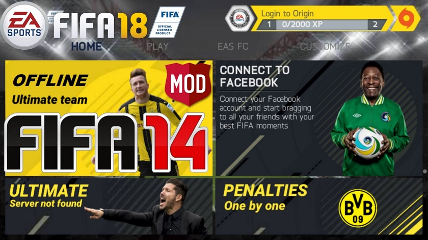 FIFA 14 Mod FIFA 18 Android Offline Best Graphics Download