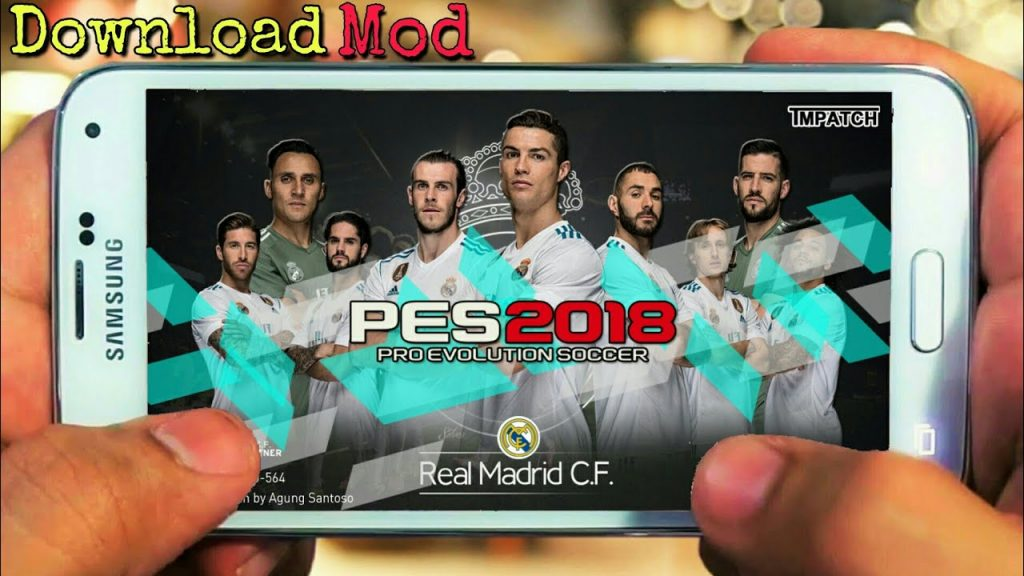 PES 2018 Mobile Mod Real Madrid Patch Menu Android Download