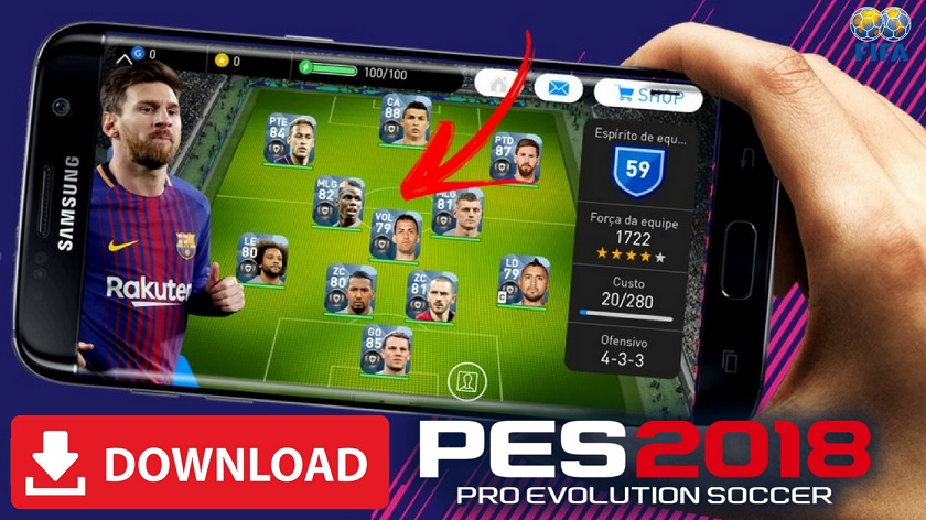 PES 2018 Mod Apk Unlocked Players and Infinite Money Download