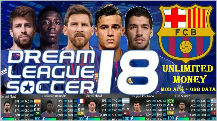 Dream League Soccer 2018 MOD APK FC Barcelona Data Download
