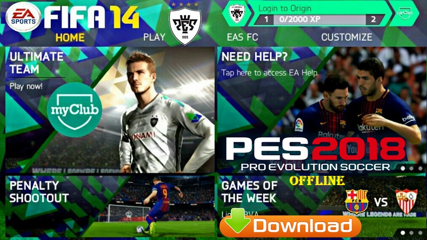 FIFA 14 Mod PES 2018 Android Offline Download