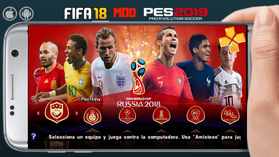 FIFA 18 Mod PES 2019 World Cup Patch Android Download