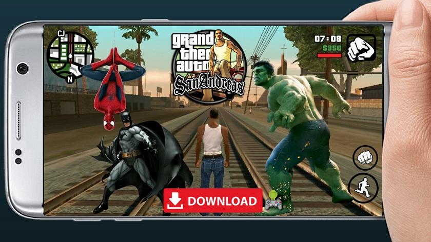 GTA SA Mod Super Hero Android Download