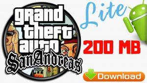 GTA SA Lite Apk Data Highly Compressed 200MB Download