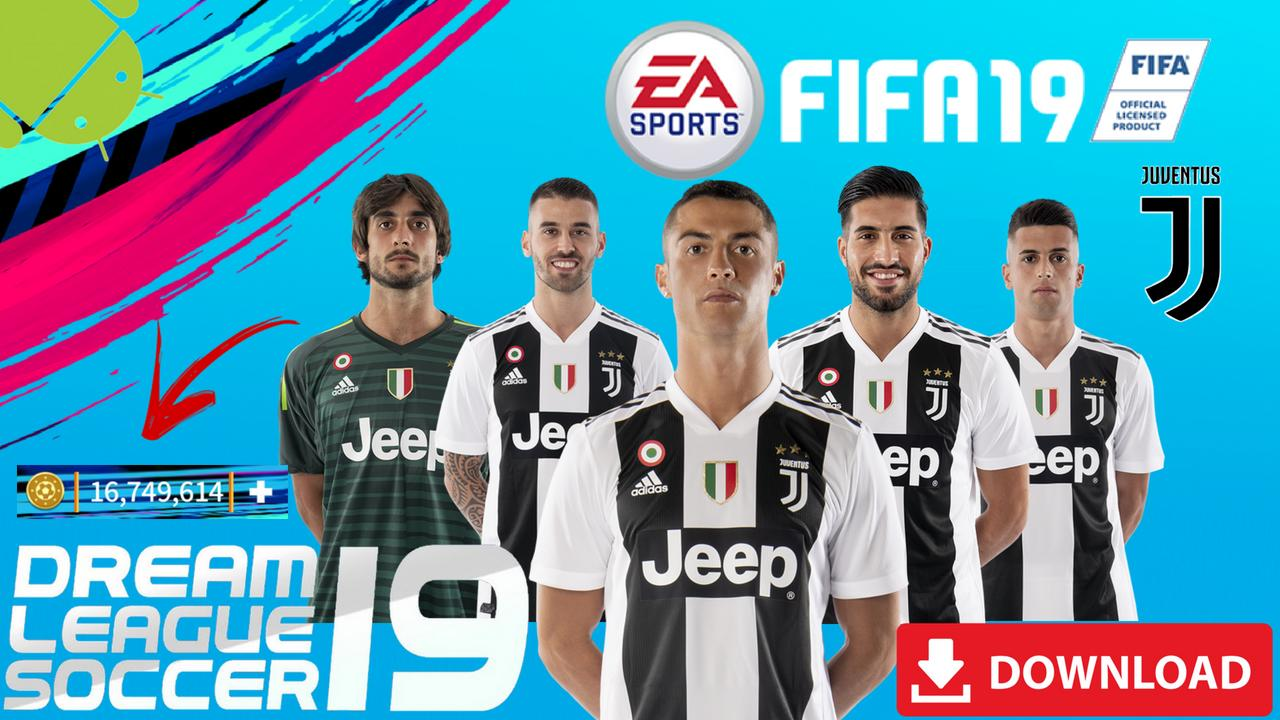 DLS19 Mod Juventus FIFA Offline Android Download