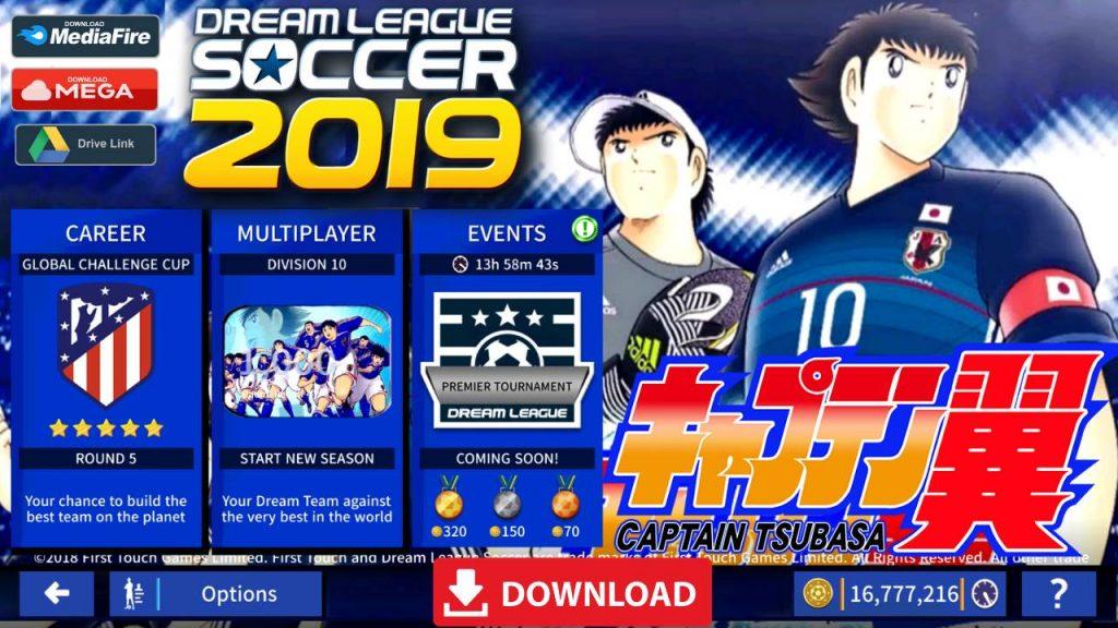 DLS 19 Android Mod Captain Tsubasa Download