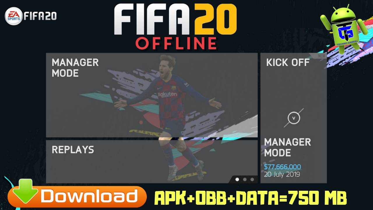 FIFA 20 Mod Offline Android Black Edition 2020 Download