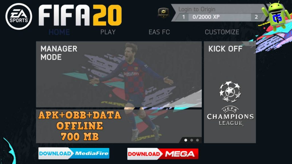 FIFA 20 Offline Android Patch Manager Mode Download