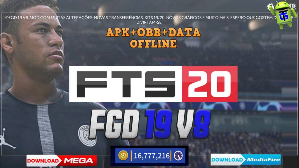 FTS 2020 Mod FGD v8 Android APK OBB Data Download