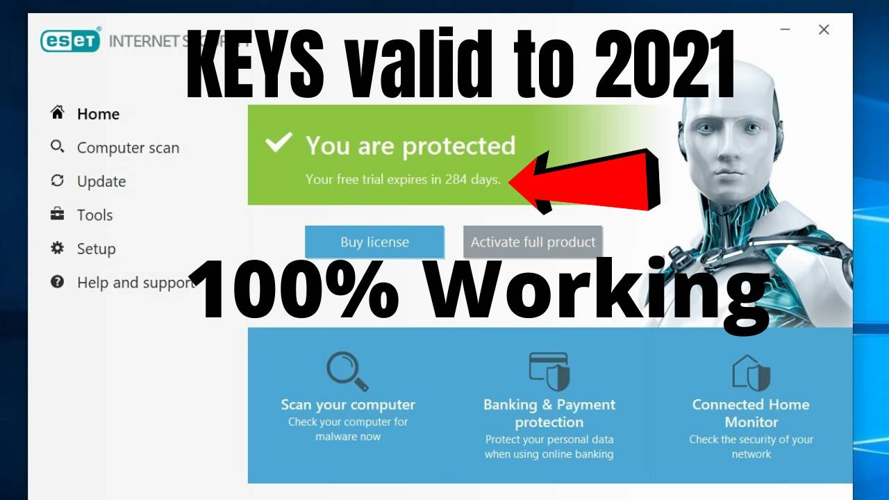 Download ESET Antivirus 1 year trial license key 2021