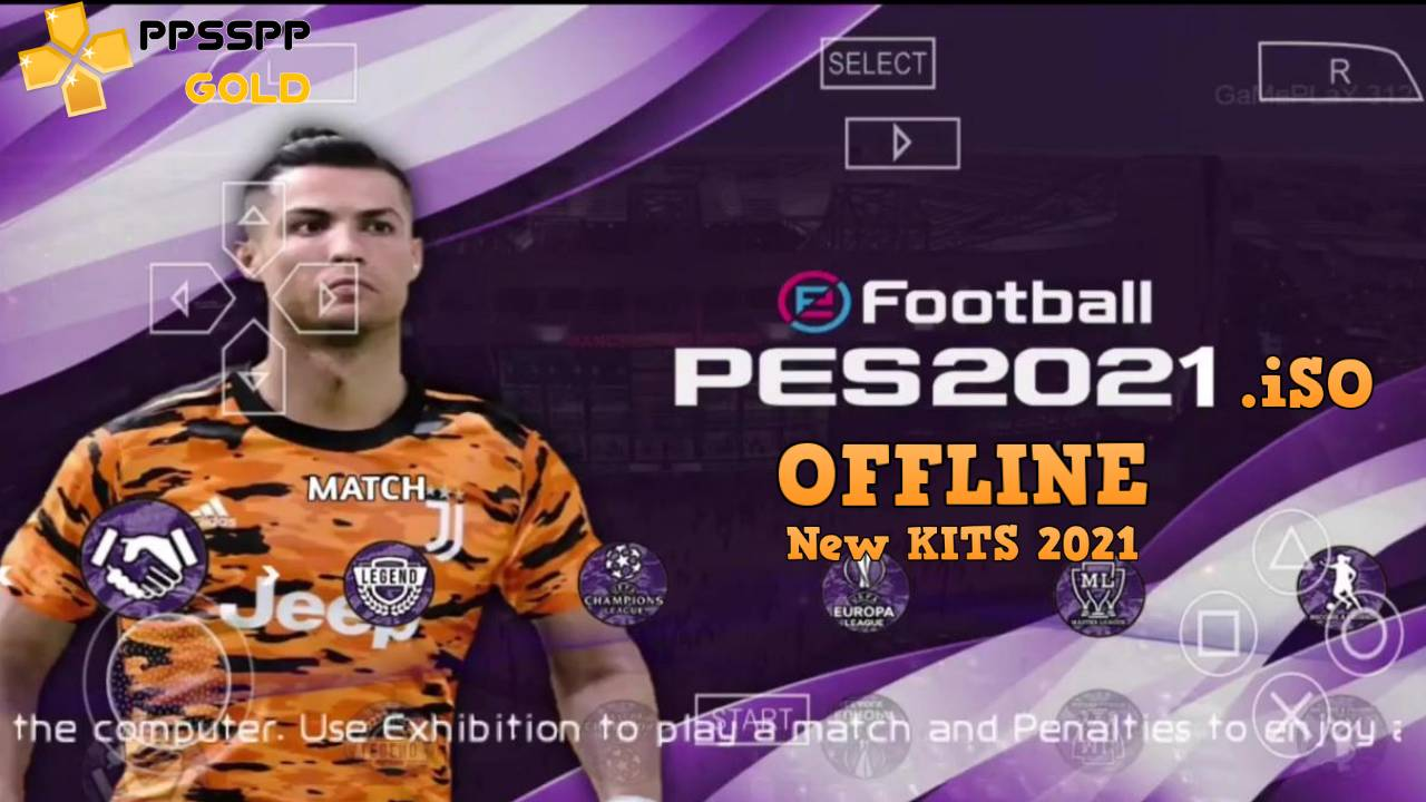 PES 2021 Offline PPSSPP Camera PS4 Download