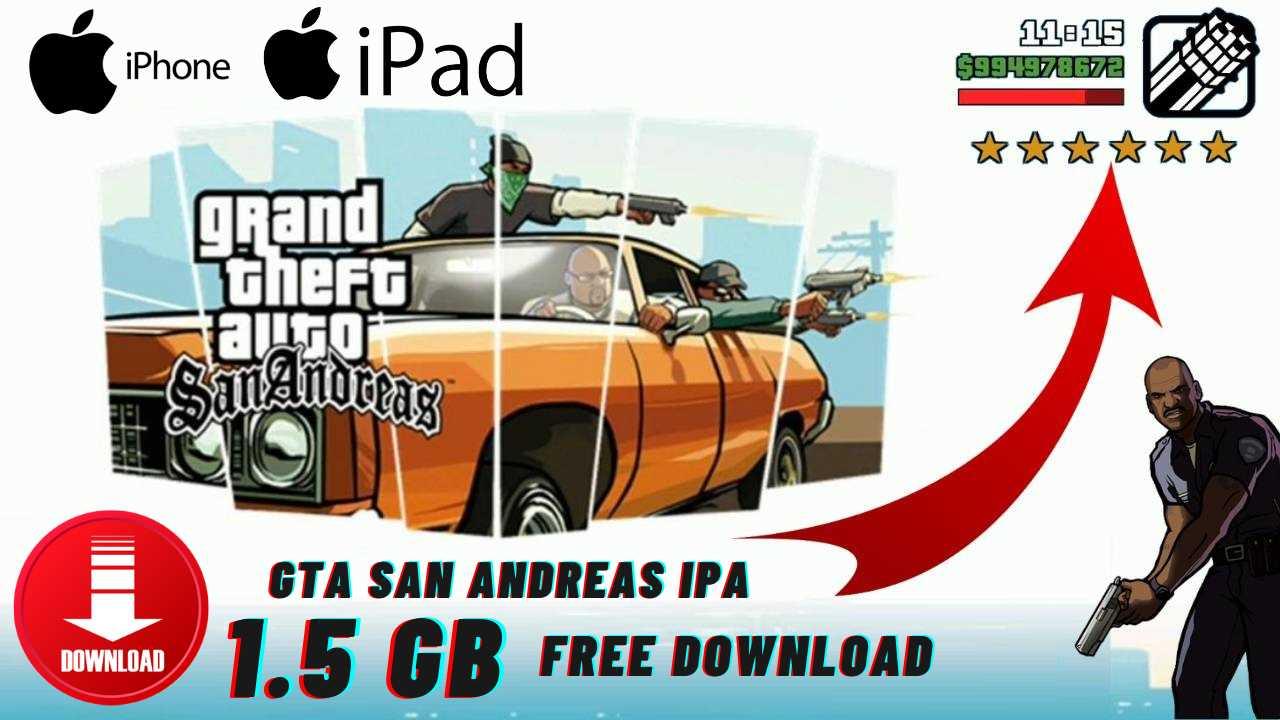 GTA San Andreas ipa iPhone Free Download