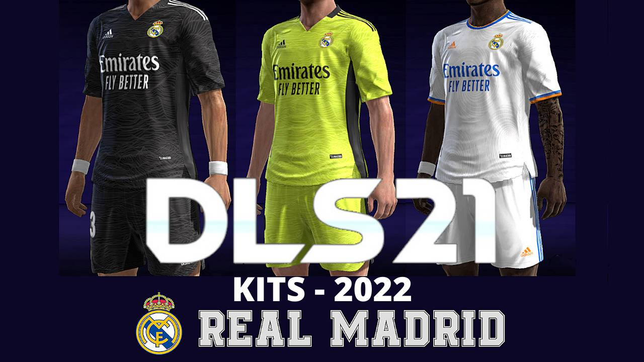 Real Mdrid Kits 2022 DLS 21 Touch Soccer FTS