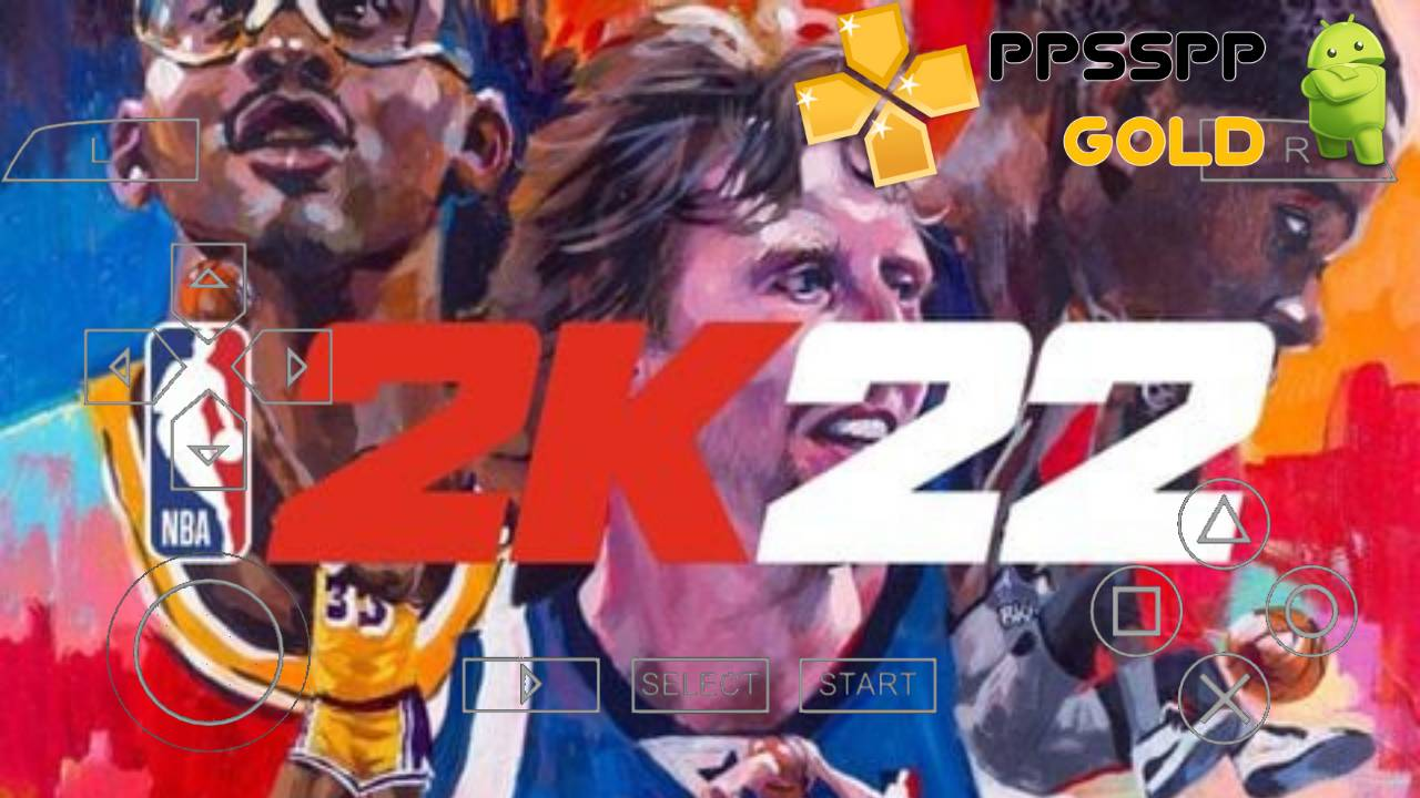 NBA 2K22 PPSSPP iSO PSP fFor Android and iOS Download